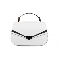 Astra Satchel - White / Black