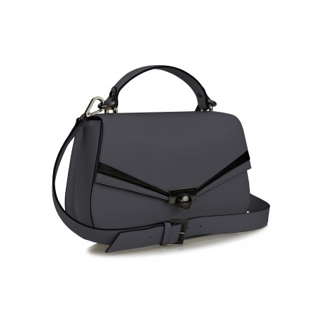 Astra Satchel - Dark Grey / Black